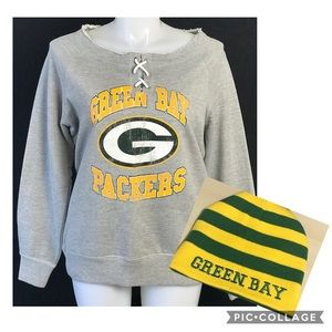 NEW GREEN BAY PACKERS Sweatshirt Reversible HAT XL